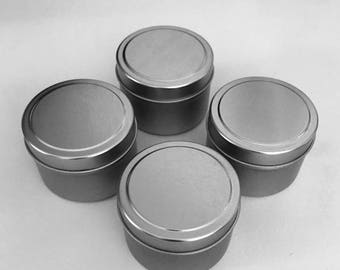 Tin Candle Containers