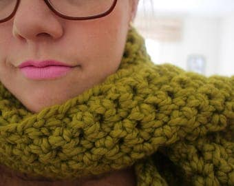 Chunky Scarf - Avocado Green