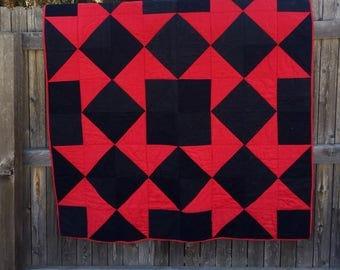 Star Patchwork Quilt, handmade quilt, wedding gift