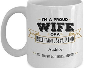 Gifts For Auditor, Auditor Mug, Auditor Gifts, Wife Coffee mug, Wife gifts, Husband to wife gift, Anniversary Gift,Birthday Gift