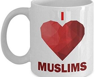 I <3 Muslims, Love Muslims Cup, Muslims Coffee Mug, Muslims Mug, Muslim Mug, Muslim coffee mug
