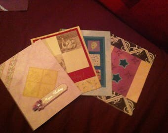 Set of Four Blank Birthday cards