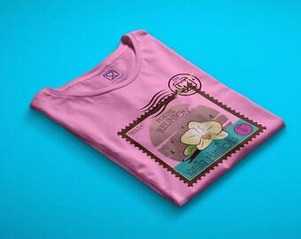 t-shirt girl - teen - pink - mini shopper - button - pin - sensory journeys - vanilla - dream - handmade - gift idea - kokoronaif tees