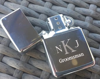 Engraved Polished Lighter. Gift For Groomsmen. Will you be my Groomsman? Fathers Day Gifts. Wedding Party Gifts. Cigar Accessories. Cigar.