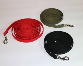 Dog Training Lead 15 ft Long Leash Obedience Cotton Web Foot Feet