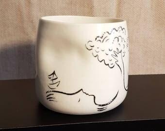 Cup illustrated porcelain, model 9