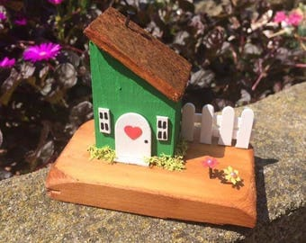 Collectable Hand Crafted Unique Pretty Wooden Cottages 'Apple Cottage'
