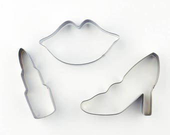 3pcs/Set Lip/ Lipstick/ High Heel - Fondant Biscuit Mold - Pastry Baking Tool Set