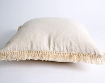 by ARNA Beige Fringe Cushion
