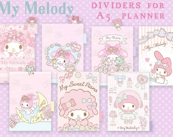 My Melody SET 2 _ dividers for A5 planner