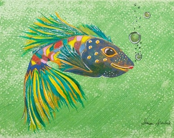 Whimsical Fish Painting