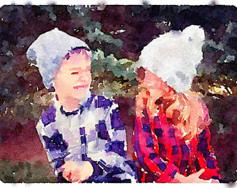 """Your Photo in 4""""x6"""" Watercolor Print"""