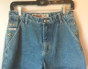 Vintage Women's 90s No Excuses Denim Shorts