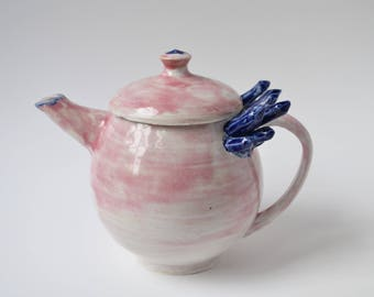 Pink and Blue Crystal Teapot
