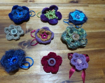 Crochet Flower Brooches - Single Flower