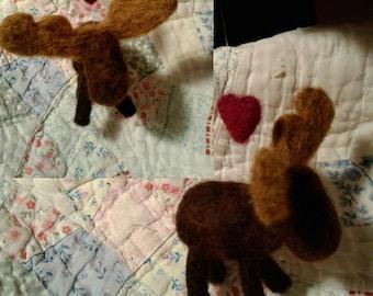 100 % Wool Maine Moose Ornament