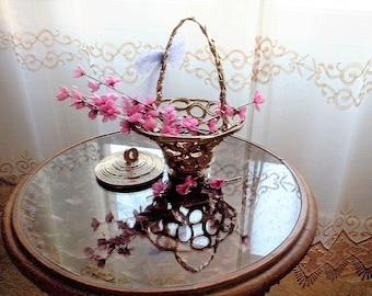 elegant gold basket