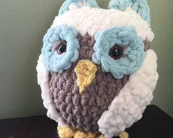 Crocheted plush Owl