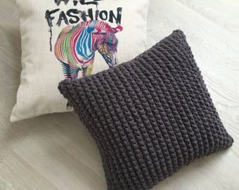Hand Knitted Throw Pillow Cover - Crochet Tile - 20+ Amazing Colours