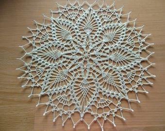 """Aisne"" round crochet doily"