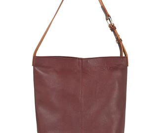 Small laptop bag Kim in amaranth