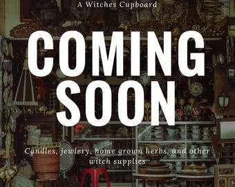Coming soon: A Witches Cupboard