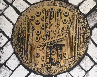 Dumbo Manhole, Brooklyn NYC Wall-Art, Historic Brooklyn, Williamsburg,