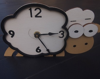 "Hand-painted table CLOCK ""SHEEP"""