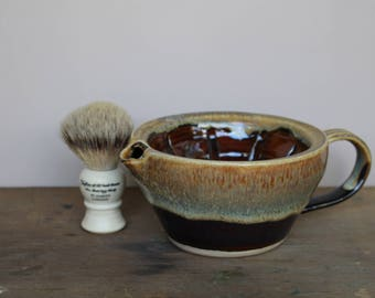 Coffee and Cream Wet Shaving Scuttle - UK