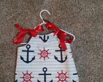 Pillow case dress/ Ribbon Dress / Anchor dress