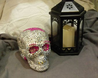Blinged Out Skull With Gold Colored Teeth