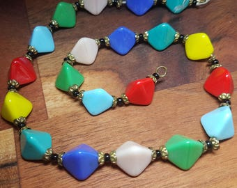 Vintage colourful Italian necklace