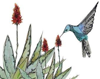 Aloe Little Bird Print