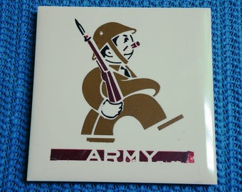 Kemper-Thomas Co. Victory Series Army No. 805 Decorative Tile Charm Plaque