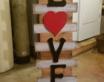 Free Standing Love Sign