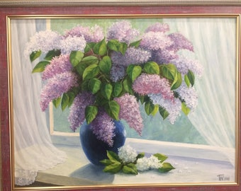 Oil painting, flowers, drawing, Eternal spring