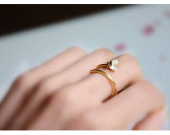 sterling silver magnolia flower ring