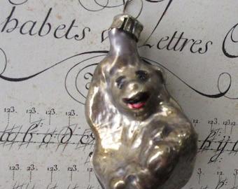 Vintage Christmas Ornament Germany Monkey Blown Glass Decoration  Box B