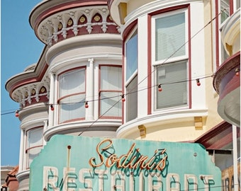 Sodini's Print on Canvas, North Beach Restaurant, Little Italy, San Francisco Photography, Canvas Gallery Wrap
