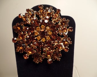 Large 1950's Brooch with Autumn Colors