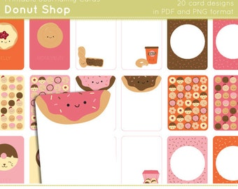 Donut Shop - Printable and Digital Journaling Cards
