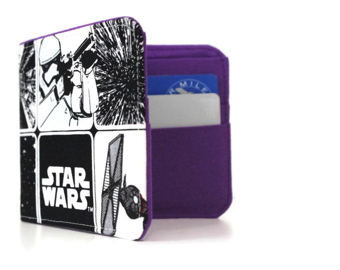 Star Wars BiFold Wallet / Slim Minimalist Wallet / Vegan