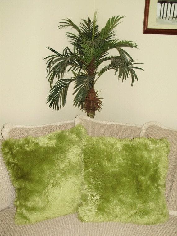 Saari Design Faux Fur Shag Throw Pillow