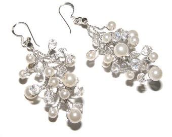 Handwired Bridal Earrings