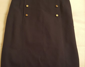 Stunning vintage CHANEL SKIRT gold buttons size 36 38 2 4