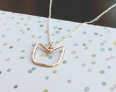 Solidarity Equality PussyHat Inspired Women's March Necklace - Pink Rose Gold and Sterling Silver - fundraiser for human rights nonprofit