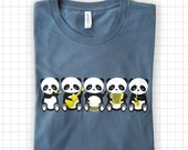Band o' Pandas Steel Blue T-shirt