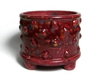 Ceramic Planter Pot with Bumpy Texture - Bumpy Pot Planter with Feet - Succulent Pot