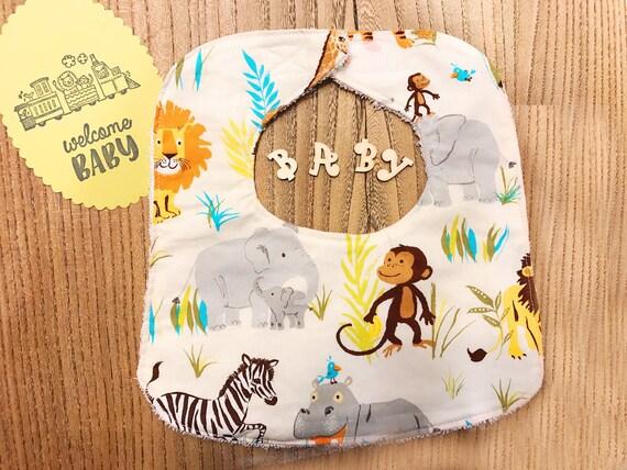 Wild Jungle Adventures Baby Boy Bib, Infant Bib, Baby Shower Gift, Drool Bib