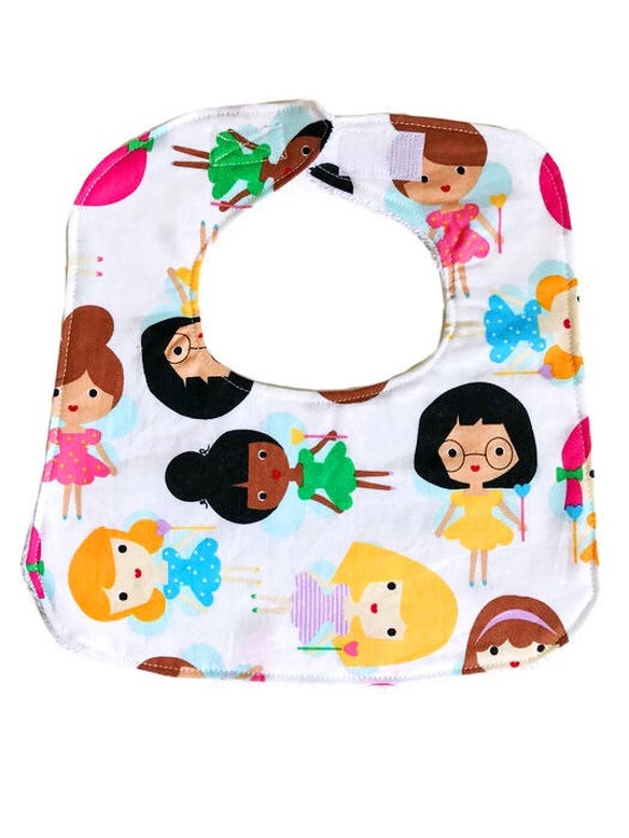 Baby Bib, Magic Girls Bib, Baby Girl Bib, Girl Bib, Drool Bib, Baby Shower Gift, Dribble Bib, Cotton Bib
